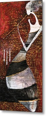 Night Flute Metal Print by Maya Manolova