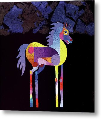 Metal Print featuring the painting Night Foal by Bob Coonts