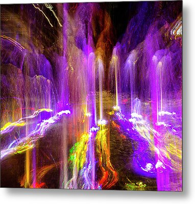 Night Fountain  Metal Print