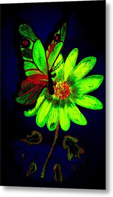 Night Glow Metal Print by Maria Urso