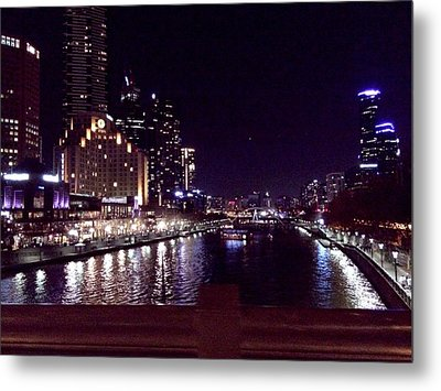 Night In The City Metal Print by Chi Nguyen