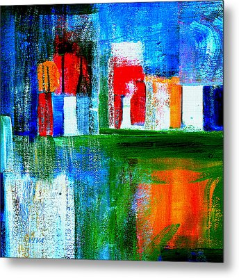 Night In The City Nyc Metal Print