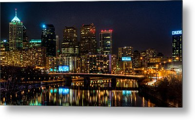 Night In The City Of Brotherly Love Metal Print by Louis Dallara