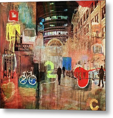 Metal Print featuring the photograph Night In The City by Susan Stone