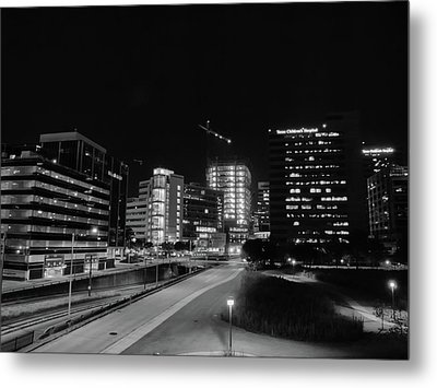 Metal Print featuring the photograph Night In The Medical Center by Joshua House