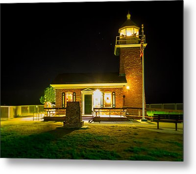 Night Lighthouse Metal Print by Steve Spiliotopoulos