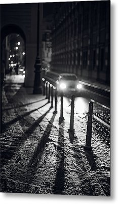 Metal Print featuring the photograph Night Lights. Prague by Jenny Rainbow