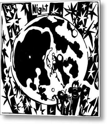 Night Maze Metal Print by Yonatan Frimer Maze Artist