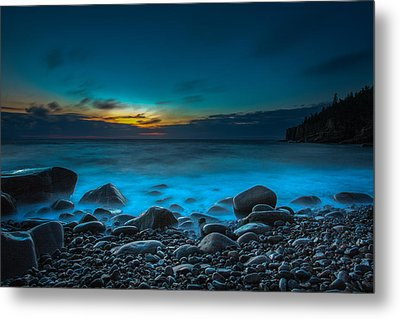 Night On Acadia Metal Print by Laurie Martin