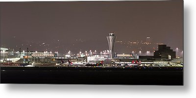 Metal Print featuring the photograph Night Operations by Alex Lapidus