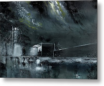 Night Out Metal Print by Anil Nene