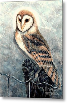 Night Owl Metal Print by Janine Riley