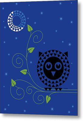 Night Owl Metal Print by Ron Magnes