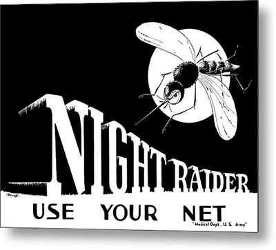 Night Raider Ww2 Malaria Poster Metal Print