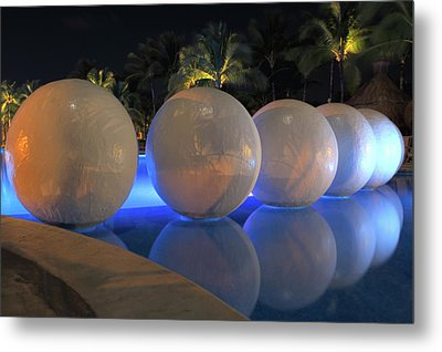 Metal Print featuring the photograph Night Reflections by Shane Bechler