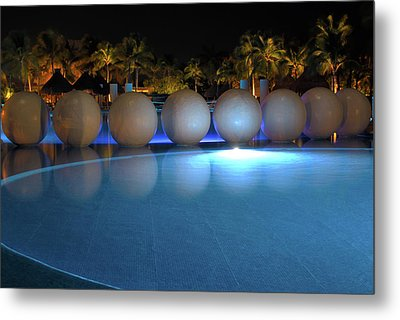 Metal Print featuring the photograph Night Resort by Shane Bechler