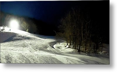 Metal Print featuring the photograph Night Skiing At Mccauley Mountain by David Patterson