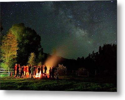 Night Sky Fire Metal Print by Matt Helm