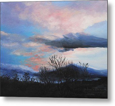 Metal Print featuring the painting Night Sky by M Diane Bonaparte