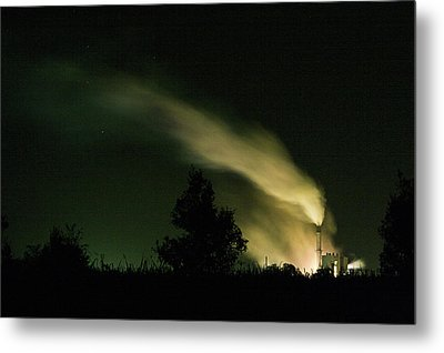 Night Steaming Metal Print