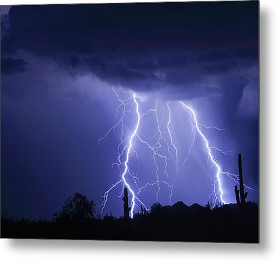 Night Striking Down Metal Print