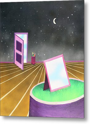 Metal Print featuring the painting Night by Thomas Blood
