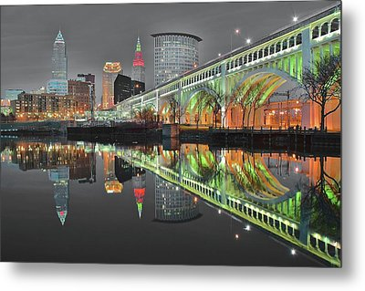 Metal Print featuring the photograph Night Time Glow by Frozen in Time Fine Art Photography