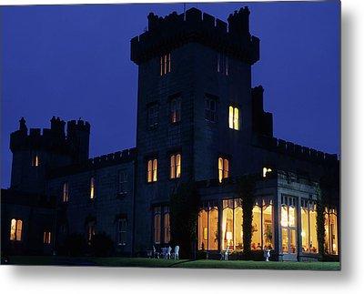 Night View Of Dromoland Castle Metal Print