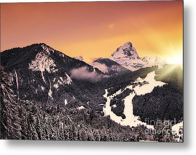 Nightfall Metal Print by Alessandro Giorgi Art Photography