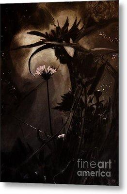Metal Print featuring the painting Nightflower by Vanessa Palomino