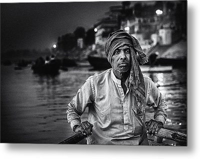Nights On The Ganges Metal Print by Piet Flour