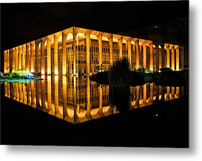 Metal Print featuring the photograph Nighttime Reflections by Kim Wilson