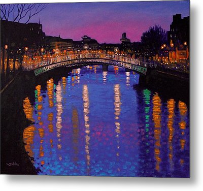 Nighttown Ha Penny Bridge Dublin Metal Print