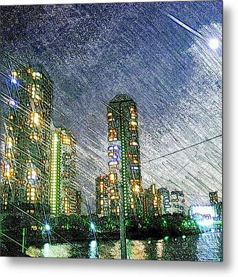 Tokyo River Metal Print by Daisuke Kondo