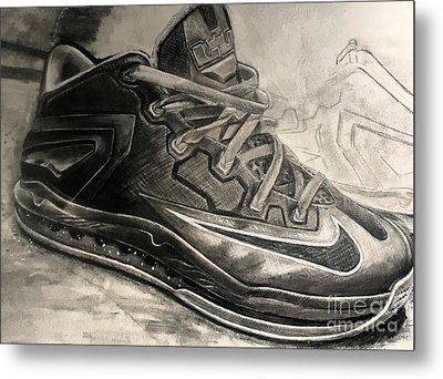Nike Lebron 10 Low Volt Olive Metal Print by Gary Reising