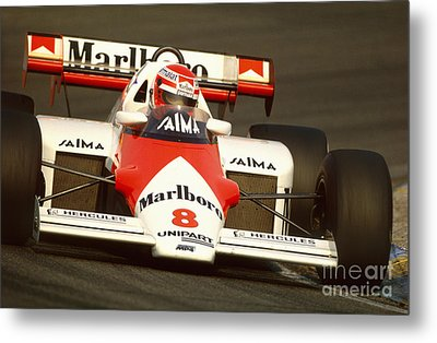 Niki Lauda. 1984 Dutch Grand Prix Metal Print