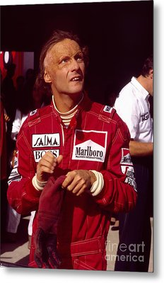Niki Lauda. Marlboro Mclaren International Metal Print