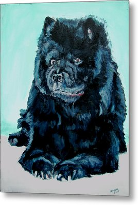 Metal Print featuring the painting Nikki The Chow by Bryan Bustard