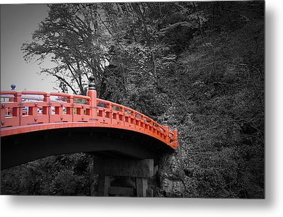 Nikko Red Bridge Metal Print by Naxart Studio