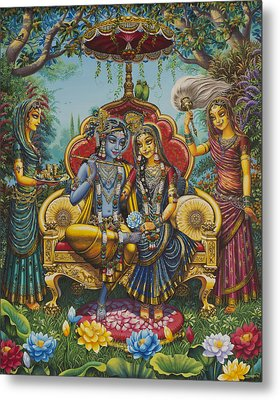 Nikunj Rasa Metal Print by Vrindavan Das