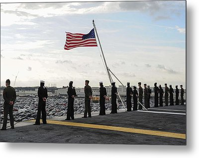 Nimitz-class Aircraft Carrier Uss Theodore Roosevelt  Metal Print by Celestial Images