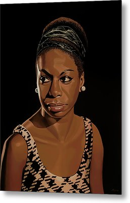 Nina Simone Painting 2 Metal Print by Paul Meijering