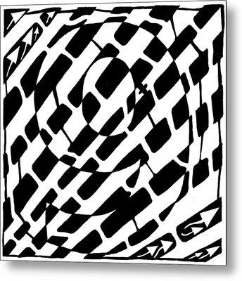 Nine Maze Metal Print by Yonatan Frimer Maze Artist