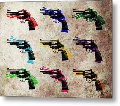 Nine Revolvers Metal Print by Michael Tompsett