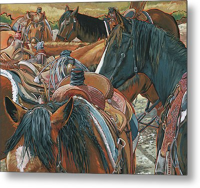 Nine Saddled Metal Print