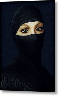Ninja Portrait Metal Print by Maynard Ellis