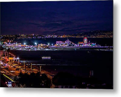 Nite Life On The Pier Metal Print