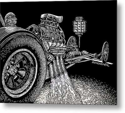 Nitro Burn Metal Print by Bomonster
