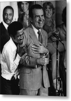 Nixon Presidency.  Sammy Davis Jr Metal Print