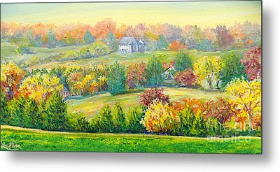 Metal Print featuring the painting Nixon's Beauty Of Autumn by Lee Nixon